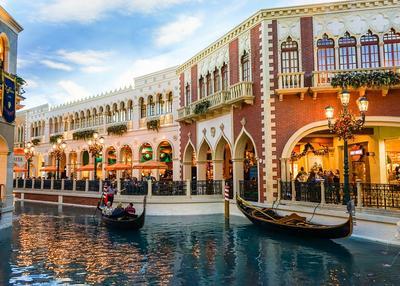 Venetian Hotel és gondolázás